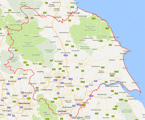 Yorkshire Loft Boarding Coverage Map
